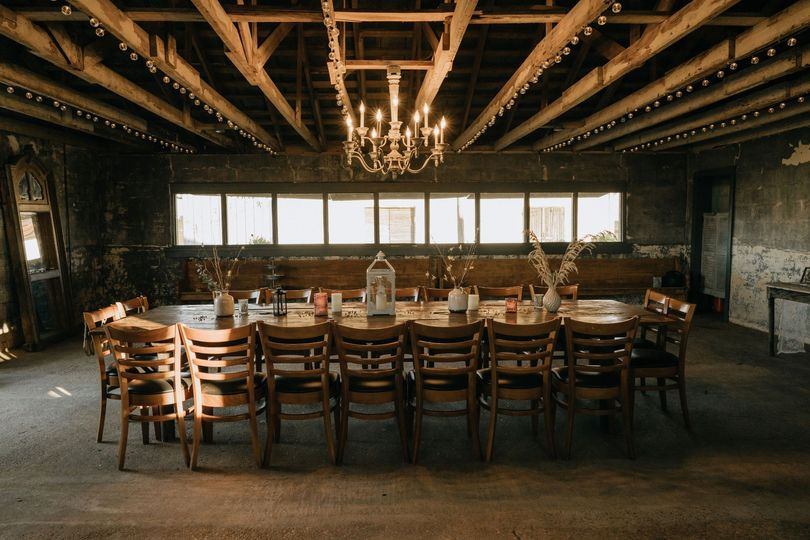 Rehearsal dinner in the dairy