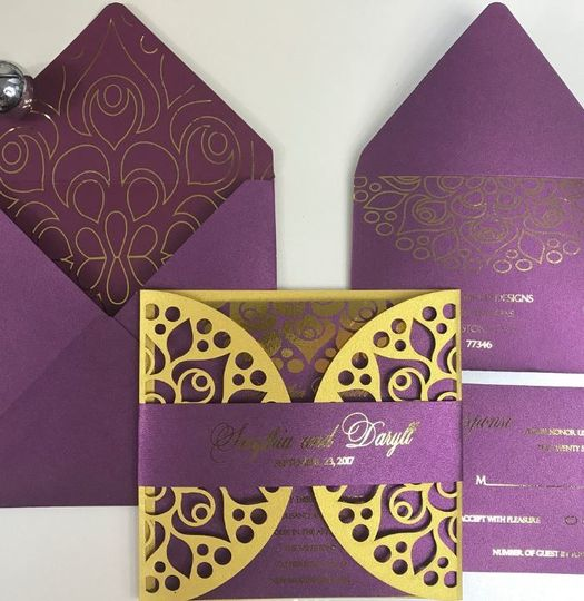 purple invite