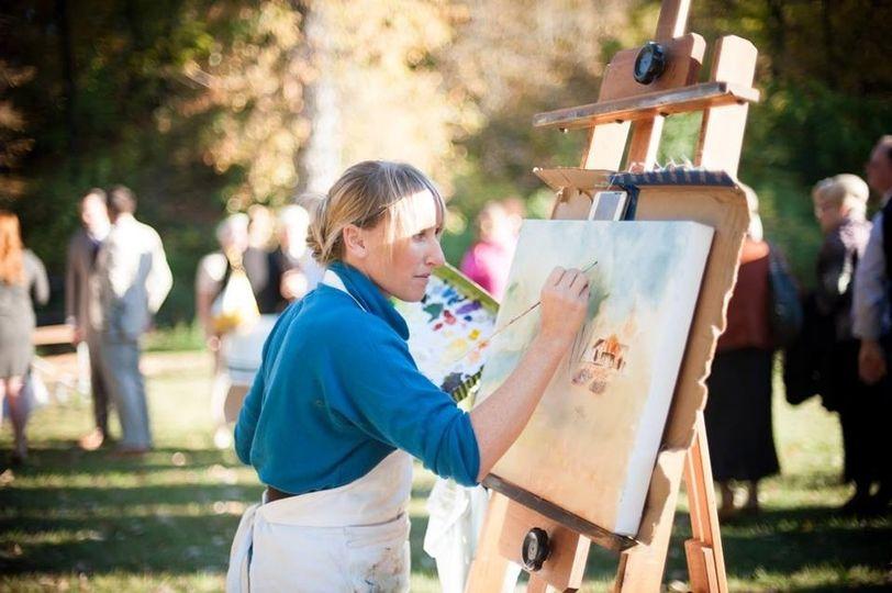 Live Wedding & Event Painter | Leanne Larson | Cane Toad Studios
