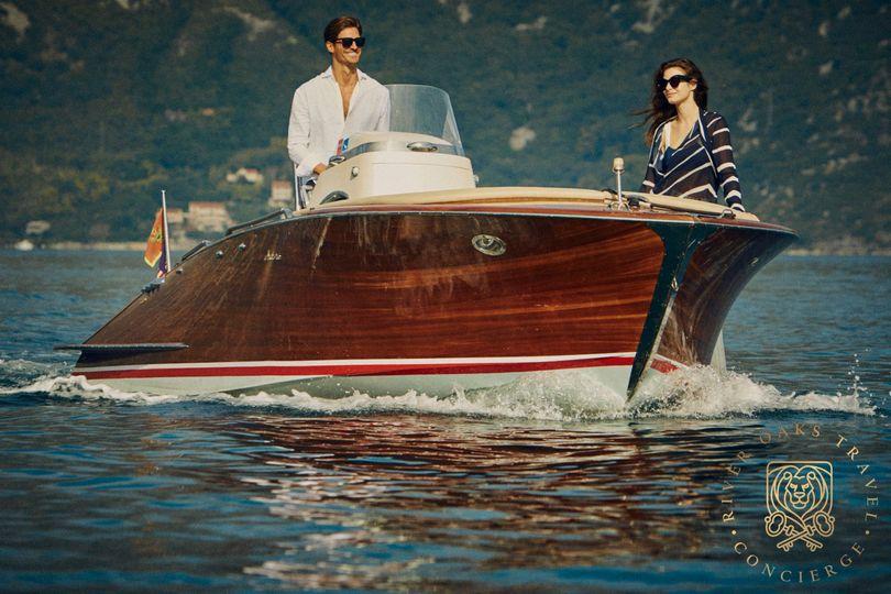 Montenegro honeymoon boating
