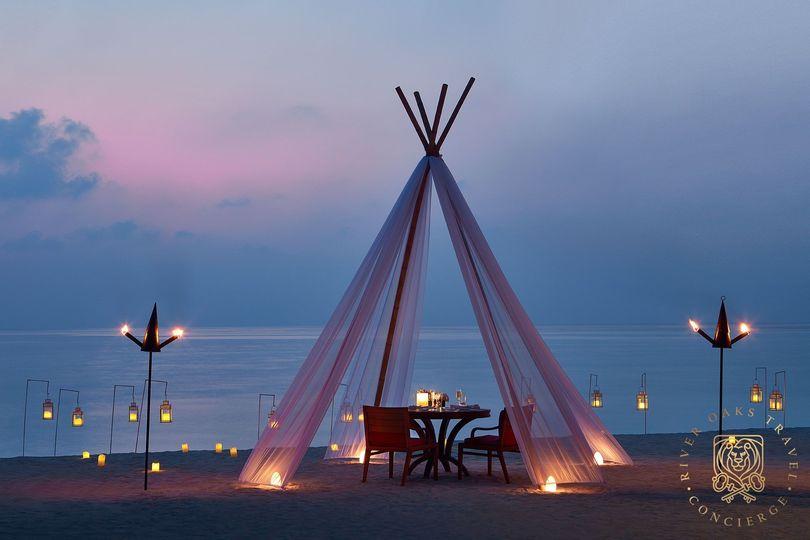 Private dinner Maldives