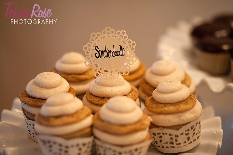 My #1 most popular cupcake..all dressed in lace for the wedding guests to enjoy