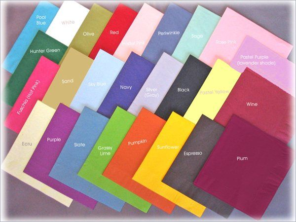 personalized napkins swatches
