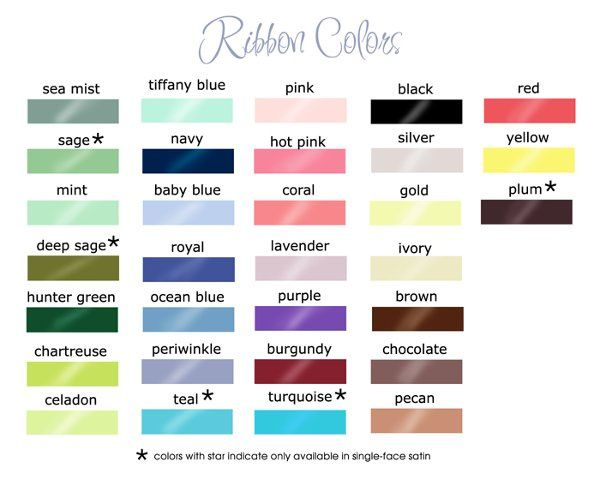 personalized ribbon colors