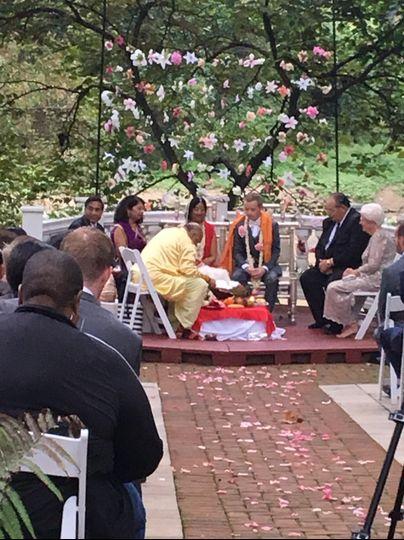 Hindu/christian ceremony