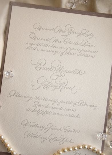 Handcrafted invitation