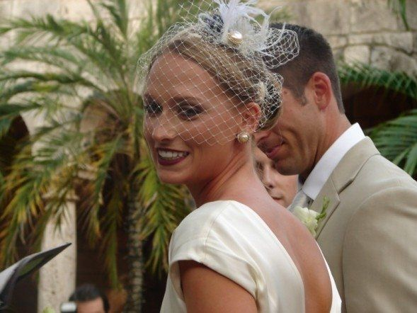One of our beautiful brides from summer (2008)...  ...she is photographed wearing two custom...
