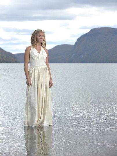 athena hemp silk eco friendly wedding dress by tar
