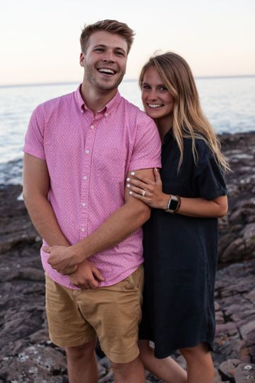 Engagement by the sea