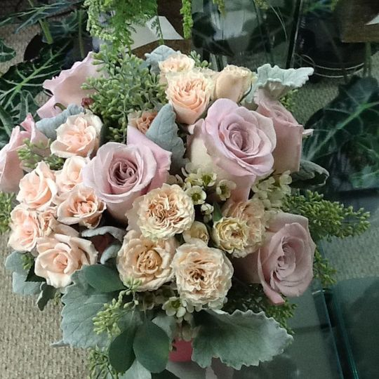 Pink and blush arrangement
