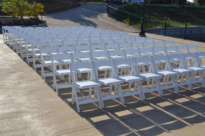 White Padded Garden Chairs