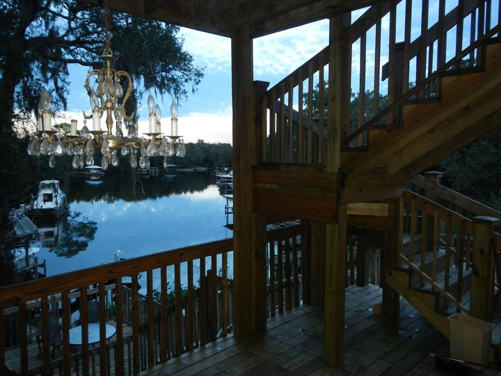 Bayou view on back deck