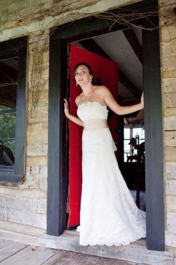bride at red door