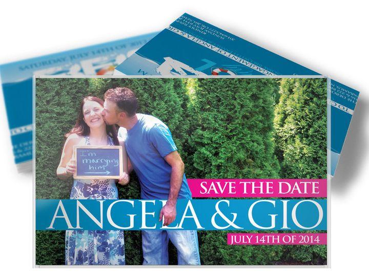 Tmx 1416333462408 Savethedatearaneo West Long Branch wedding invitation