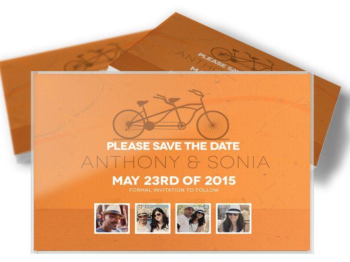 Tmx 1416333473903 Savethedatebike42 West Long Branch wedding invitation