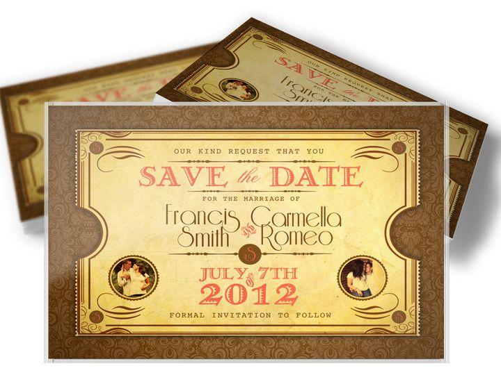 Tmx 1416333484883 Savethedatecarmella West Long Branch wedding invitation
