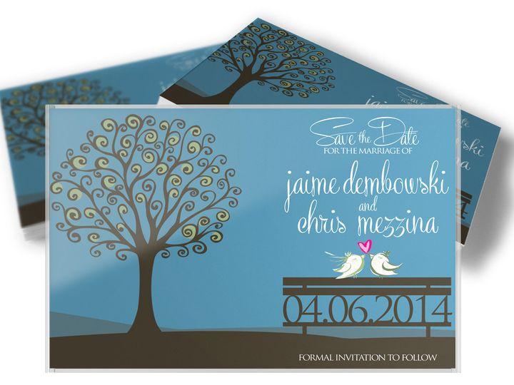 Tmx 1416333523224 Savethedatemezzina West Long Branch wedding invitation