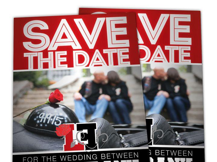 Tmx 1416337326458 Escolanosavethedaterender West Long Branch wedding invitation