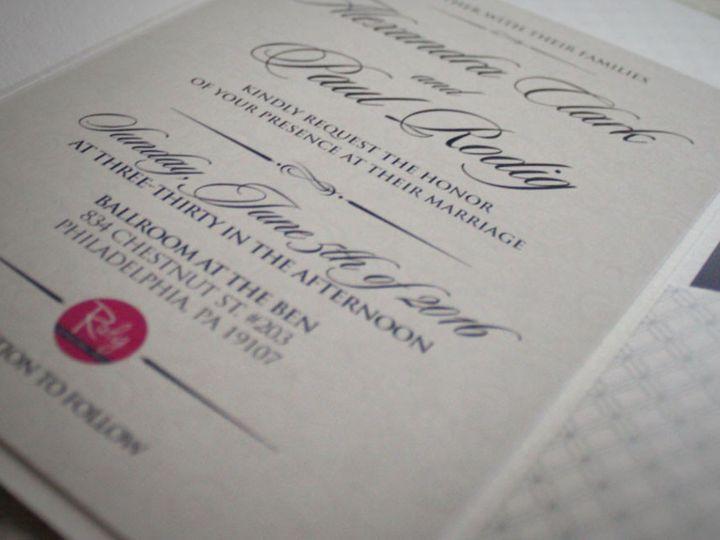 Tmx 1477758697928 Portfolio Ballroom At The Ben Invitation 7 West Long Branch wedding invitation