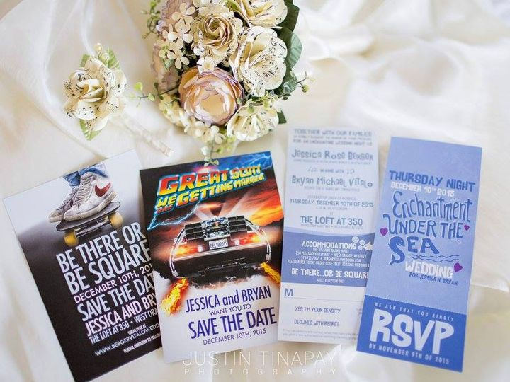 Tmx 1477758715268 Portfolio Berger Back To The Future Mcfly Collecti West Long Branch wedding invitation