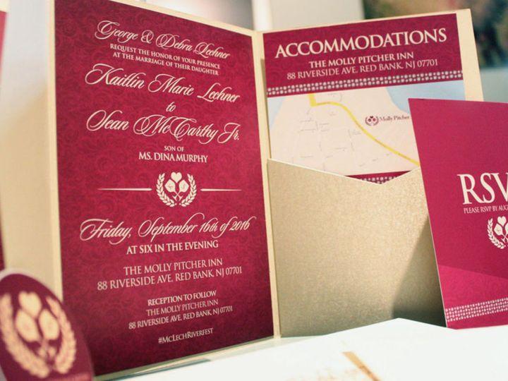 Tmx 1477758812021 Portfolio Love Wine Spirits Wedding Pocket Invitat West Long Branch wedding invitation