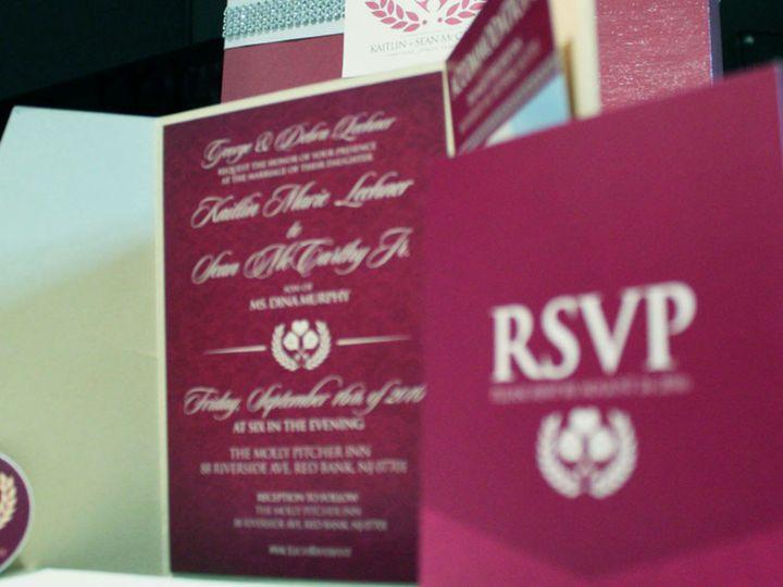 Tmx 1477758821057 Portfolio Love Wine Spirits Wedding Pocket Invitat West Long Branch wedding invitation