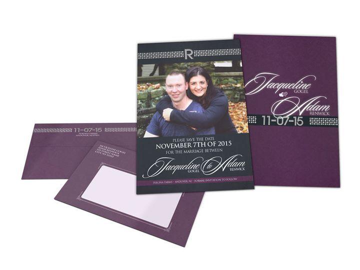 Tmx 1477758858003 Portfolio Purple Sealed With Love Wedding Perona F West Long Branch wedding invitation