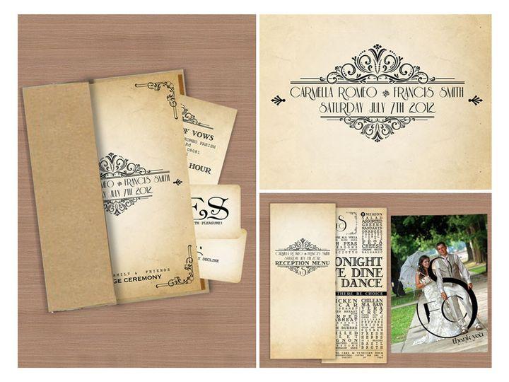 Tmx 1477758901317 Portfolio Vintage Wedding Invitation Sinatra Class West Long Branch wedding invitation