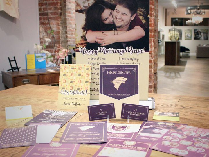 Tmx 1511323940088 Game Of Thrones Wedding Purple Gold 1 West Long Branch wedding invitation