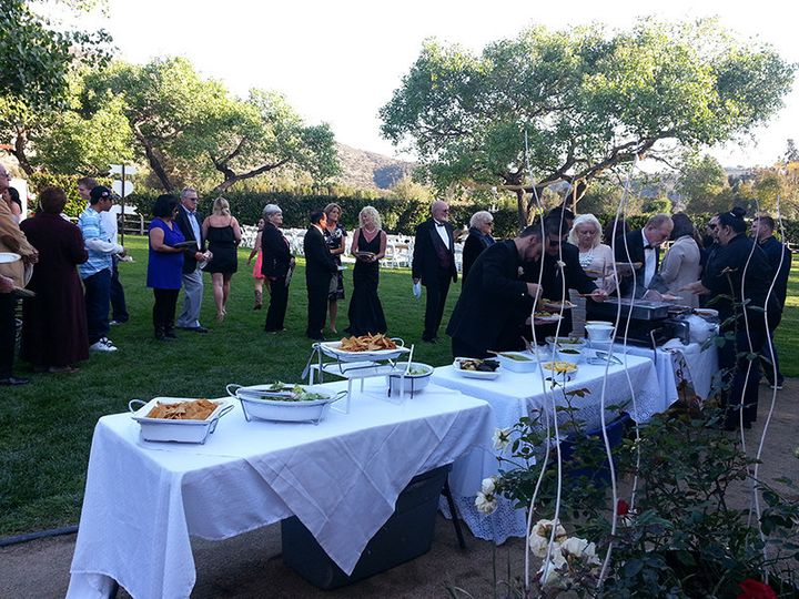 Guests lining up for tacos