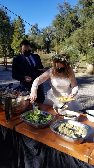 The bride loves Tacos