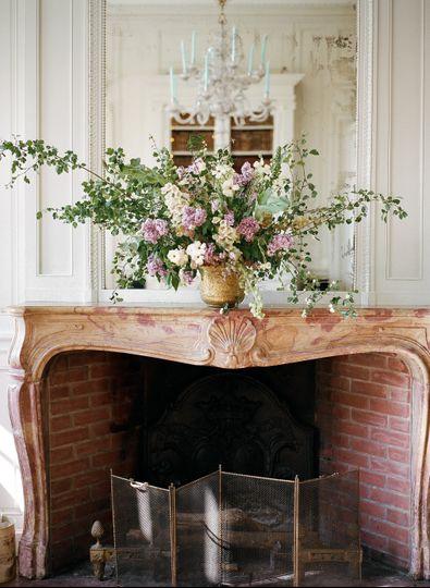 Lush arrangement at château
