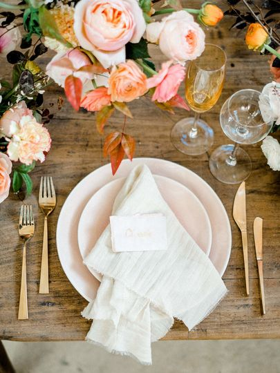 Holy tablescape detail