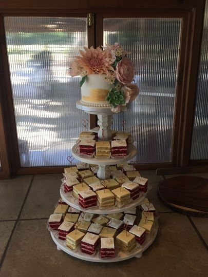 Wedding cake and petit fours