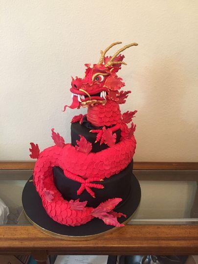 Little Dragon birthday cake for Bruce Lee fan!