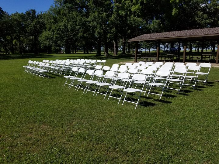 Clean and white chair setup