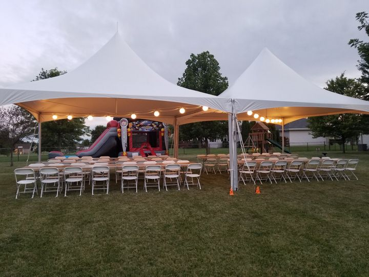 20X40 tent and chairs