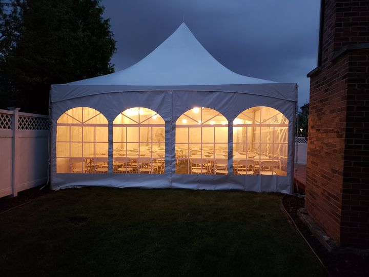 20X40 tent for 100 people