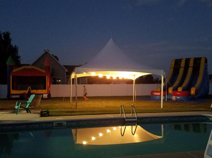 Tent by the pool