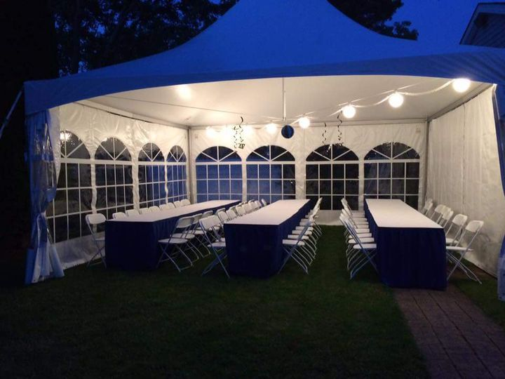 20X20 tent for 50 people