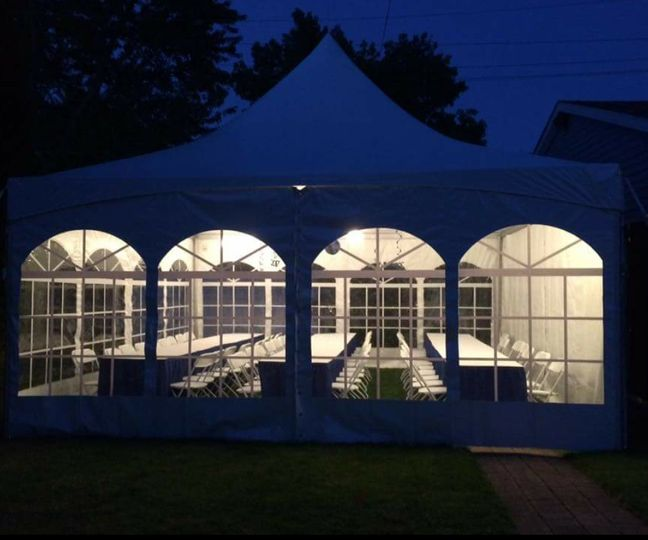 20X20 tent with sides