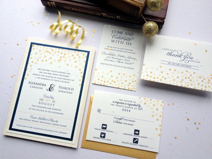 Tmx 1426616766417 Confetti Invitation Complete Cranston, RI wedding invitation