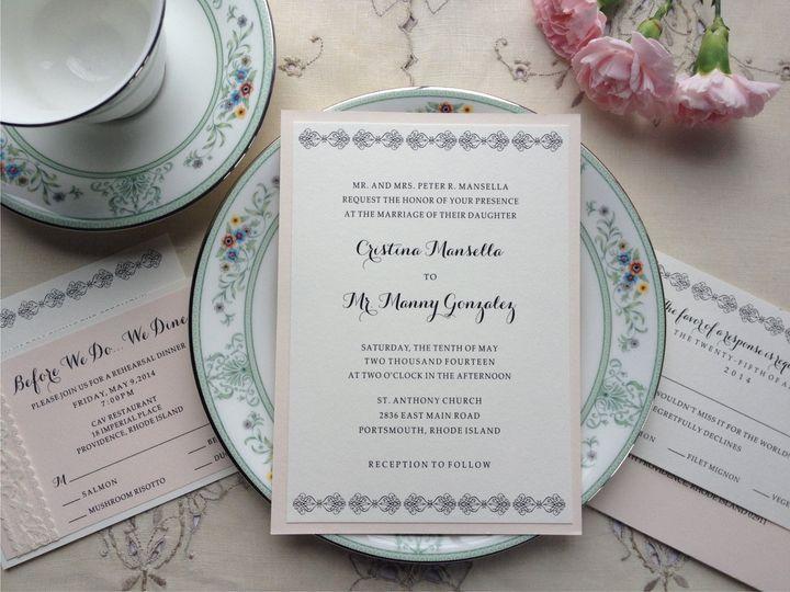 Tmx 1426616825343 Mansella Invite Cranston, RI wedding invitation