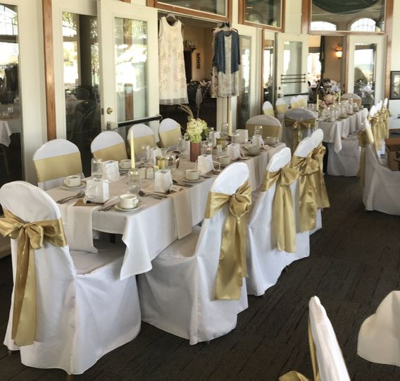 Beautiful Champagne sashes for a beautiful Bridal Shower