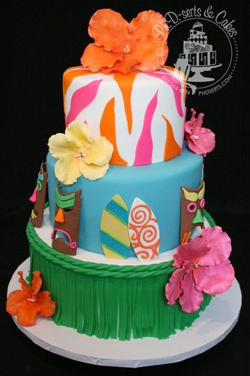Perfect for a fun, whimsical couple! Express your personality through a customized cake!