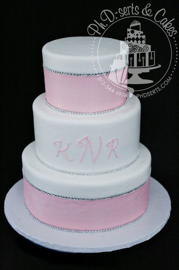 Exactly what the bride wanted - a simply-designed wedding cake with clean lines and no clutter, a...