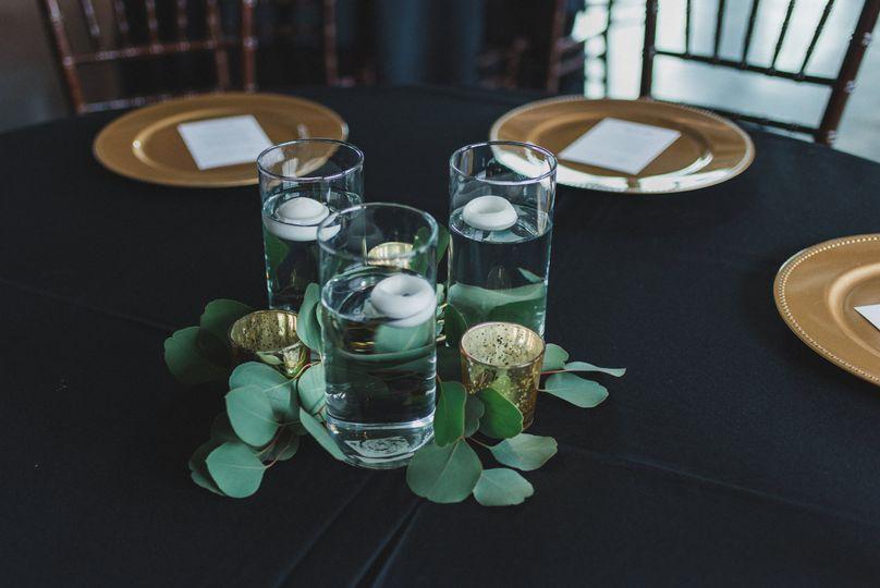 Eucalyptus & floating candle