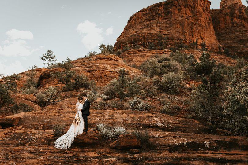 Sedon, Arizona desert wedding