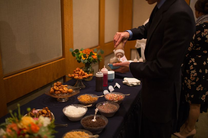 View of toppings bar