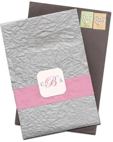 Wedding Invitation-Custom pocket/fold design.